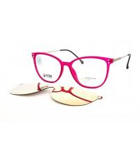 dámské brýle se slunečním klipem Point 6101 C2 růžové