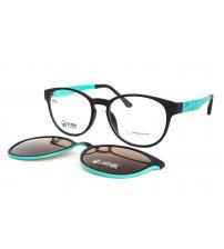 dámské kulaté brýle Point 6104 c2 s klipem tyrkysové