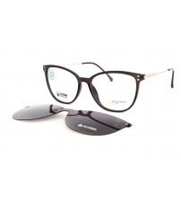 Dámské brýle se slunečním klipem Point 6101 c1 tmavě hnědé