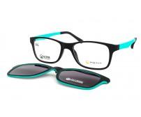 junior brýle point 6065 c6 se slunečním klipem tyrkysové
