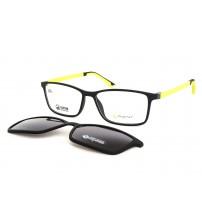 brýle Point 6095 c1 se slunečním klipem černá / žlutá