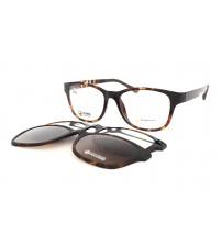 dámské brýle se slunečními klipy point 6059 c8 hnědé +2klipy