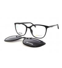 dámské brýle se slunečním klipem černé Point 6100 c2