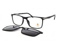 Velké pánské dioptrické brýle se slunečním klipem Pass 538-890 černá