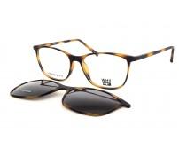 hnědé brýle se slunečním klipem KT 3953.02