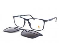 Velké pánské dioptrické brýle se slunečním klipem Pass 538-891 modrá
