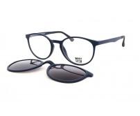 kulaté dioptrické brýle se slunečním klipem KT3978.02 modrá