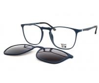 modré brýle plastové se slunečním klipem KT3954.02