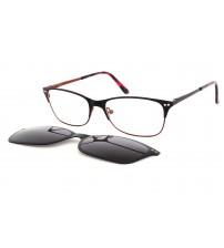 dámské brýle se slunečním klipem ou05.449.02 černo/červené