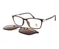 dámské dioptrické brýle pass 542-902 se slunečním klipem hnědé
