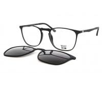 černé brýle plastové se slunečním klipem KT3954.01