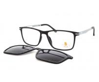 Velké pánské dioptrické brýle se slunečním klipem Pass 538-893 kostkované