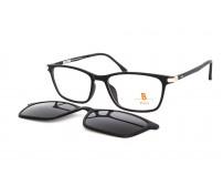 dámské dioptrické brýle černé pass 542-904 se slunečním klipem