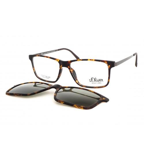 velké pánské brýle S´Oliver 94714 c770 hnědé se slunečním klipem