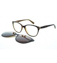 dámské brýle se slunečním klipem OU96.370.01 0219 hnědé