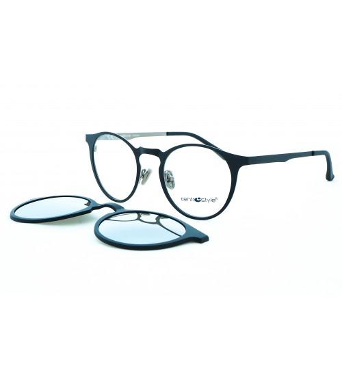kulaté brýle se slunečním klipem Centrostyle  F015147131 zrcadlové