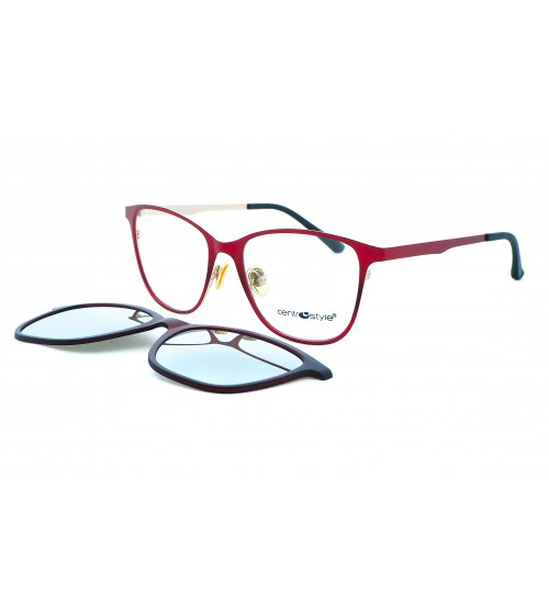 Dioptrické brýle se slunečním klipem Centrostyle 19000604 F015051 zrcadlové