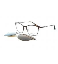dioptrické brýle se slunečním klipem Charles stone NY 30041 c2 hnědá