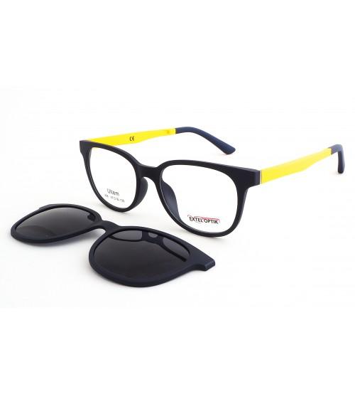 dětské dioptrické brýle ultem 908 c3 se slunečním klipem