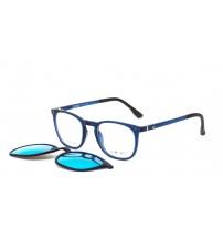 kulaté brýle se slunečním klipem kwiat 2018f modré zrcadlo